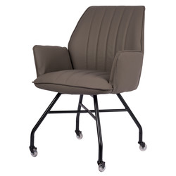 Hudson Chaise - Cappuccino | Cuir PU