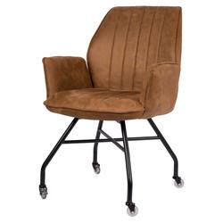 Hudson Chaise - Cognac | Microfibre
