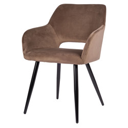 Jesper Chaise - Taupe | Velours