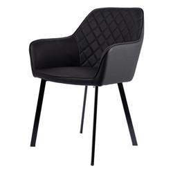 York Chaise - Noir | Cuir PU