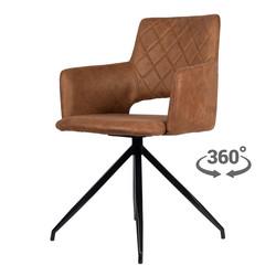 Eileen Eetkamerstoel - Cognac | Microvezel | Draaistoel 360°