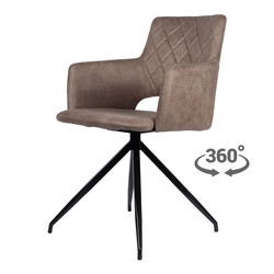 Eileen Chaise - Sand | Microfibre | Chaise pivotante à 360°