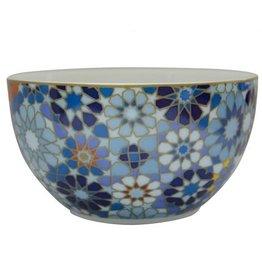 Image 'd Orient Bowl Porcelain Moucharabieh Blue - 12 cm