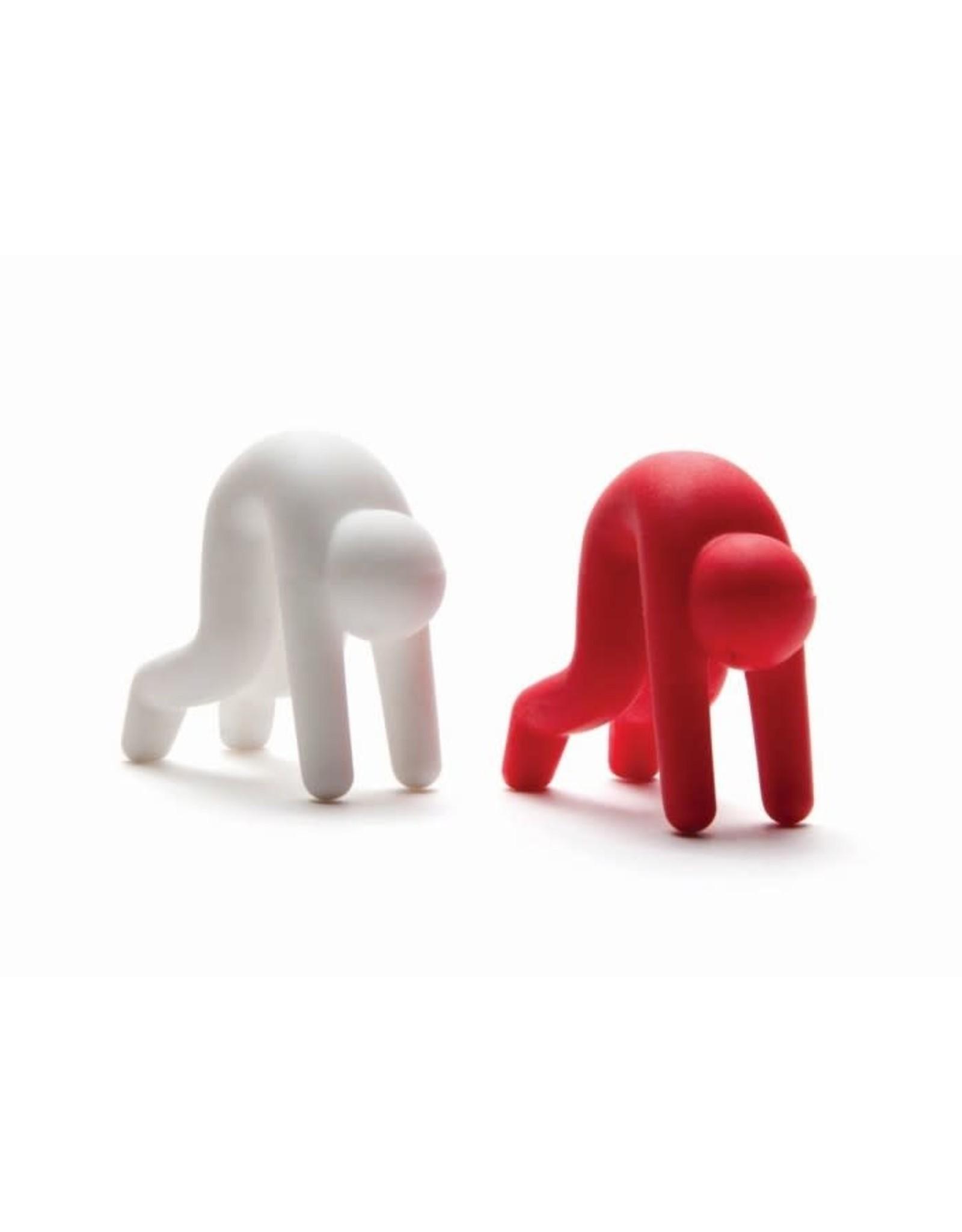 Monkey Business Lid Sid - 2 stuks rood + wit