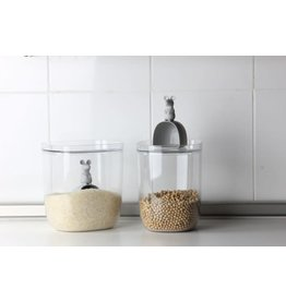 Qualy Lucky Mouse Container - clear/gray