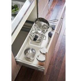 Extendable Pot Lid & Pan Holder - Tower - White