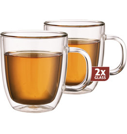 Thermo glas, set van 2, Extra tea 480 ml