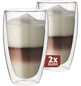 Thermo glas, set van 2, Latte 380ml