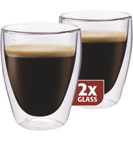 Thermo glas, set van 2, Coffee 235 ml