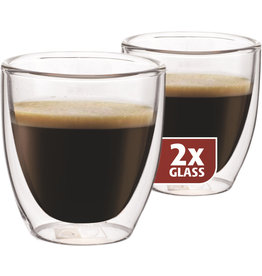 Espresso 80ml, thermo glas, set van 2