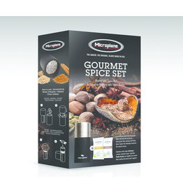 Microplane Nootmuskaatmolen zwart/rvs set, inclusief spices