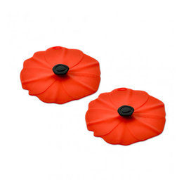 Charles Viancin Poppy Drink Covers (Rood) - Set / 2