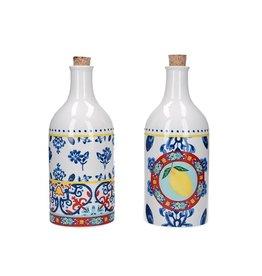 Kitchencraft keramische olie- en azijnflessenset World of Flavours 500 ml