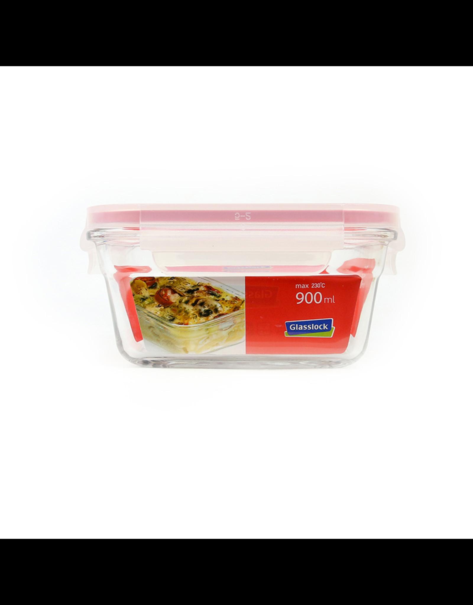 Glasslock Ovenschaal vierkant met deksel, 900 ml