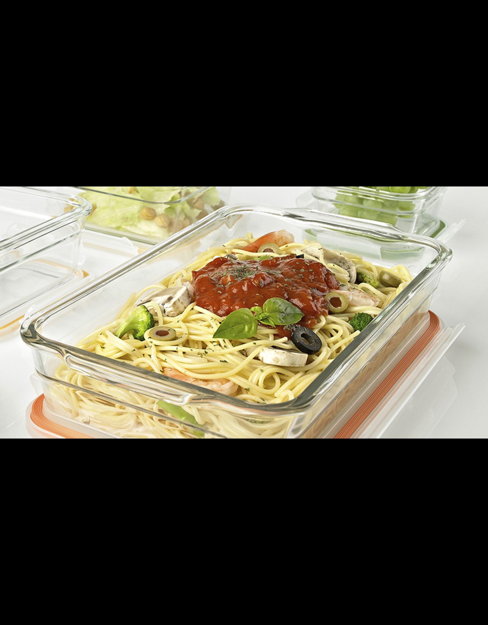 Glasslock Ovenschaal XL met deksel, 2200 ml