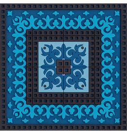 Image 'd Orient Onderzetter 1 st  Blue's 3