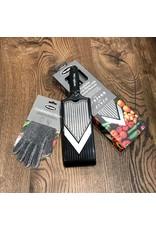 Microplane V-rasp slicer/julienne zwart + gratis beschermhandschoen