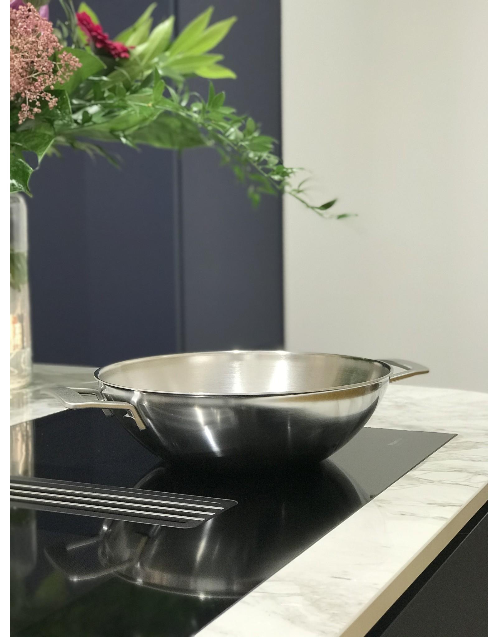 Demeyere Industry 5 wok met 2 grepen 30 cm -3l
