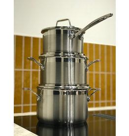 Scanpan Impact set van 3 pannen (kookpan 18 cm 20 cm + steelpan)