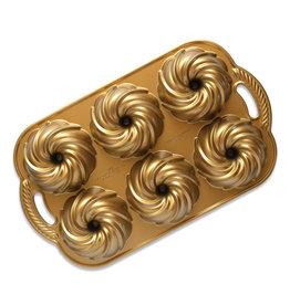 Nordic Ware GOLD Swirl Bundlette