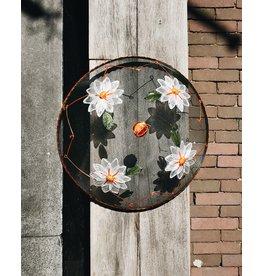 Vliegenkap, Ø 35,5 cm, Witte Bloemen