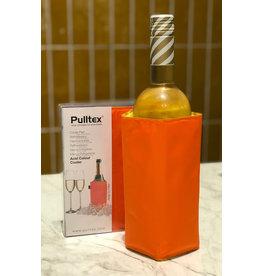 Pulltex Wijn/ champagnekoeler oranje/geel
