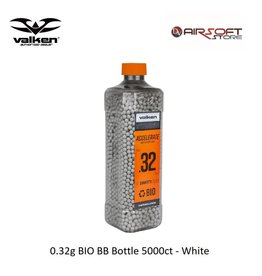 VALKEN 0.32g BIO BB Bottle 5000ct - White