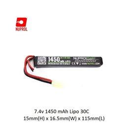 NUPROL Batterij Nuprol Lipo 7.4V 1450mah 30C - stick