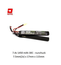 NUPROL Batterie Nuprol Lipo 7.4V 1450mah 30C - nunchuck