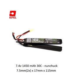 NUPROL Battery Nuprol Lipo 7.4V 1450mah 30C - nunchuck