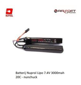 NUPROL Battery Nuprol Lipo 7.4V 3000mah 20C - nunchuck