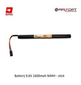 NUPROL Batterij 9.6V 1600mah NiMH - stick
