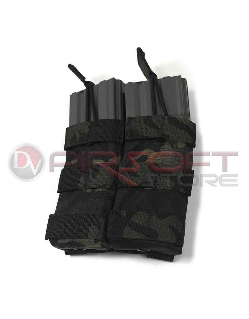EMERSON Emerson Double Open Top  5.56 Magazine Pouch - MC Black