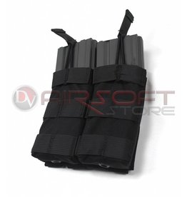 EMERSON Double Open Top  5.56 Mag Pouch - BL