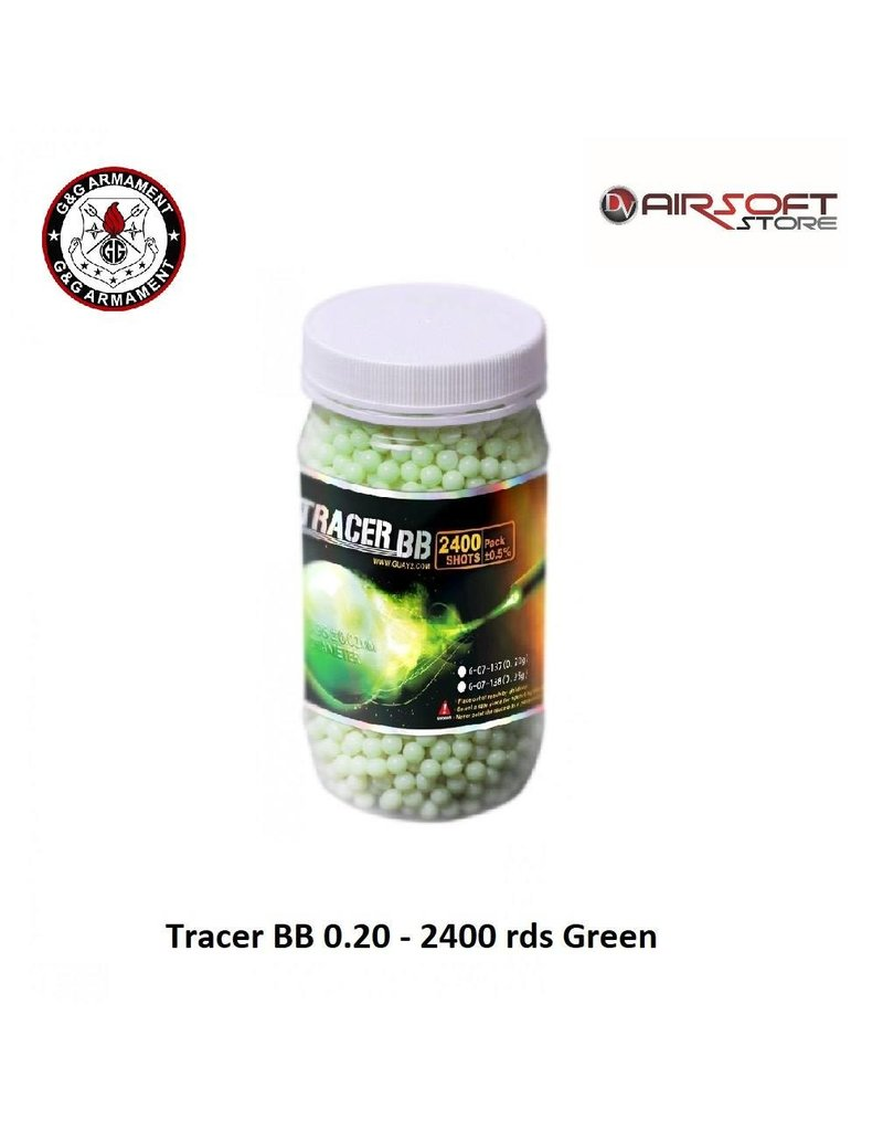 G&G Tracer BB 0.20 - 2400 rds Green