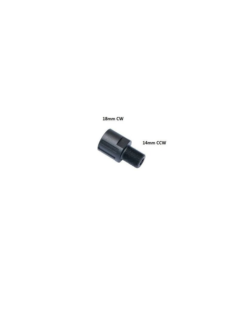 ASG Adapter 18mm - 14mm ccw