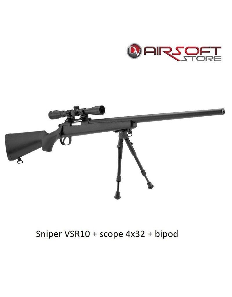 ASG Sniper VSR10 + scope 4x32 + bipod