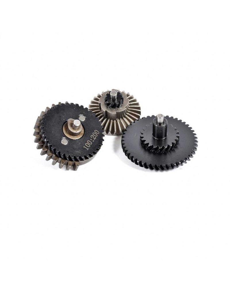 - Gear Set 100:200 Steel CNC - Helical High Torque