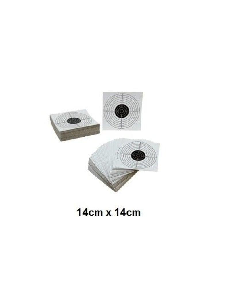 ASG Target card 14x14 - 100pcs
