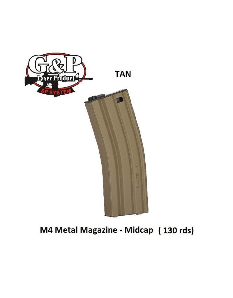 G&P M4 Magazine - Midcap - 130rds - TAN