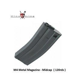King Arms M4 Magazine - Midcap - 120rds - BK