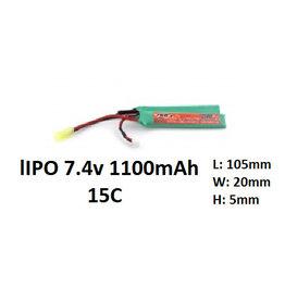 FKB Batterij Lipo 7.4V 1100mah 15C - nunchuck