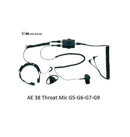 Midland AE 38 S2a Throat Mic G5-G6-G7-G9