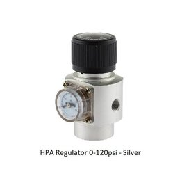 Oxygen HPA Regulator 0-120psi - Silver