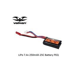 VALKEN LiPo 7.4v 250mAh 25C Battery PEQ