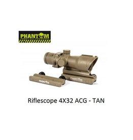 Phantom Riflescope 4X32 ACG - TAN