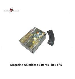 King Arms Magazine AK midcap 110 rds - box of 5