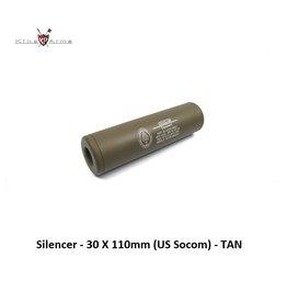 King Arms Silencer - 30 X 110mm (US Socom) - TAN