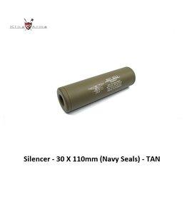 King Arms Silencer - 30 X 110mm (Navy Seals) - TAN
