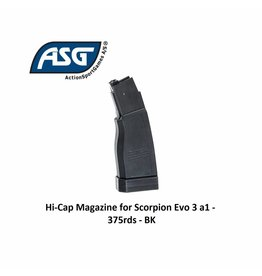 ASG Hi-Cap Magazine for Scorpion Evo 3 a1 - 375rds - BK